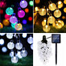 Solar Fairy String LED Lights Crystal Round Ball Christmas Tree Party Decoration