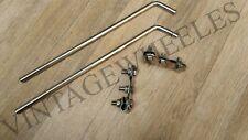 "LAMBRETTA/VESPA - 18"" MIRROR STEM & MIRROR SPOT LAMP BRACKET SET STAINLESS STEEL"