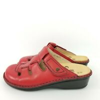 FINN Comfort Size 36 (5 - 5.5) Red Leather Caged Mules Closed Toe Style 3716702