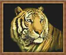 TIGER Pittura ad Olio KIT-PAINT BY NUMBERS (comprende Frame) 40 cm x 50 cm