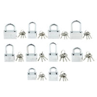 Premium Metal Safety Security Padlock Lock Long Short Shackle with 4 Keys