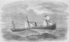 BOATS. Praetoria, new cargo-carrying ship, antique print, 1877
