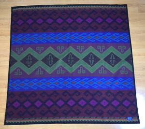 Vintage Westland Wovens Pendleton Purple Throw Blanket Aztec Southwest 59 x 60