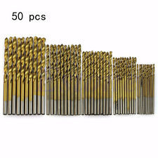 50PCS/Set Sizes 1/1.5/2/2.5/3mm Titanium Coated HSS High Speed Steel Drill Bit