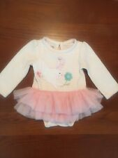 Mudpie Baby Girl 3-6 month Tutu Onepiece Bunny Outfit Pick Vguc Longsleeve