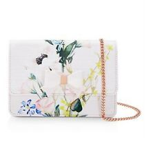 Ted Baker Splendour Shirlyy Printed Nude Pink Micro Bow Evening Bag Floral Purse