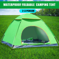 2~3 Person Automatic Apace Pop Up Waterproof Outdoor Camping Hiking Beach Tent