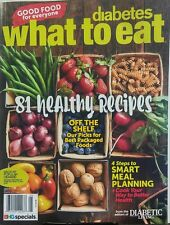 Diabetes What To Eat 2017 Healthy Recipes Smart Meal Planning FREE SHIPPING sb