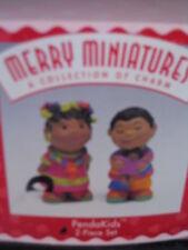 Hallmark 1997 Merry Miniatures 2pc 1997 Penda Kids African Kids New Old Stock