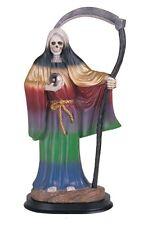 "12"" Rainbow 7 Colors Santa Muerte Statue Holy Death Grim Reaper Santisima"