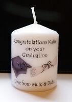 personalised graduation day university degree candle gift keepsake present