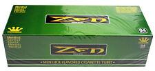 50 (Fifty) Zen Green/Menthol King Size Cigarette Tubes (200ct Carton) RYO/MYO