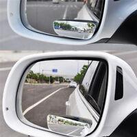 2Pcs Set Universal Car Auto 360° Wide Angle Convex Rear View Blind Spot Mirror