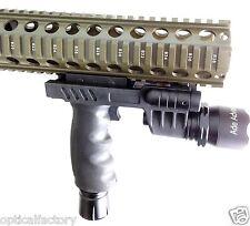 Rifle Vertical Foregrip Grip + 450 Lumen Flashlight and Green Laser Combo Sight