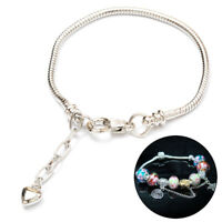Fashion Silver Plated Snake Bracelet Women Charm Bangle Bare Chain Jewelry RAS
