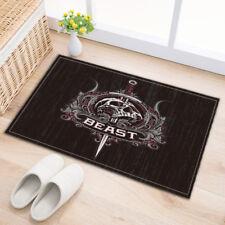 "Evil Beast Gothic Skull Sword Bath Mat Rug Non-Slip Door Bathroom Carpet 24x16"""