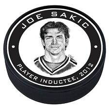 Joe Sakic Colorado Avalanche 2012 Hall of Fame Induction 3D Textured Puck