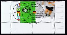 BRD 2002 gestempelt ESST Berlin Eckrand unten rechts MiNr. 2258-2259 Fußball