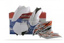 Polisport Plastic Kit White 90556 Front | Rear | Side 64-90556 992917 64-90556