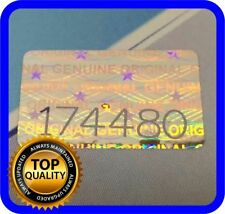 """200 pcs Hologram labels with serial numbers, warranty stickers seals .63"""" x .39"""""""