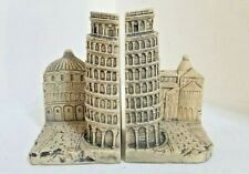"""LEANING TOWER of PISA - Italy Theme  7"""" Tall Bookends TMS 2002 - FREE SHIPPING!"""