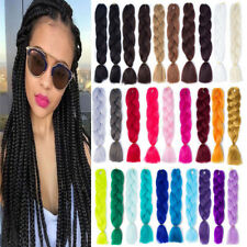 "24"" Ombre Kanekalon Jumbo Braiding Synthetic Hair Extension Twist Braids Lots"