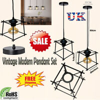 INDUSTRIAL RETRO STYLE WIRE CAGE CEILING PENDANT LIGHT/LAMP SHADE METAL EASY FIT