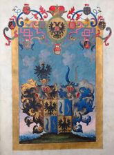 ADELSERHEBUNG KAISER KARL VI. LEIBARZT FÜRSTBISCHOF HANDSCHRIFT PERGAMENT 1738