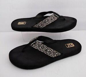 TEVA Mush Thong Flip Flops Black Sz Women's 9