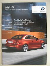 Prospecto INTERNO BMW Serie 1 Coupé 135i 123d 120d E82 Argumentos Modelos 07