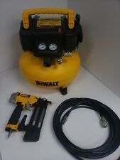 DeWalt DWFP1KIT 165 PSI Electric Pancake Air Compressor, nail gun, and hose USED