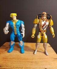 X-Men MAVERICK vs TREVOR FITZROY Kay Bee Exclusive Metallic Edition Vintage 90's