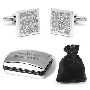 Personalised Medieval Initial Letter Cuff Links Wedding Cufflinks Best Man Groom