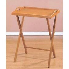 Small Accent Tables TV Trays With Stand Wood Folding Snack Table Tray Furniture