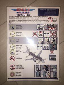 Safety card Yamal Superjet SSJ RRJ