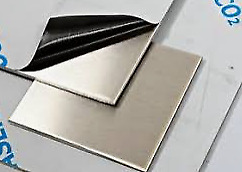 Stainless Steel 316 Brushed DP1 Satin. Laser cut. 3mm Thick sheet/plate