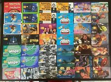 UK BT Phonecards - 42 Assorted Chip Cards - Deep Pan Pizza Pepsi Max Muppets 101