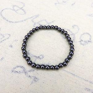 Fashion Magnetic Hematite Crown Beads Gemstone Therapy Zircon Stretch Bracelets