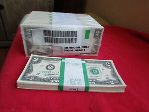 ✯✯RARE✯ NEW Uncirculated Consecutive Two Dollar Bill Crisp $2 Note 1976 - 2017 ✯