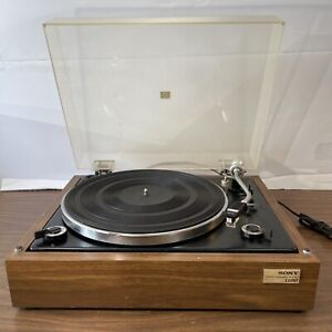 *READ* Sony PS-1100 Stereo Turntable Semi-Automatic Record Player Japan Vintage
