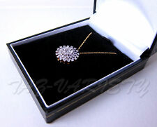 1 CARAT DIAMOND (rd/bg cut)ON 9 ct Y/GOLD PENDANT WITH CHAIN SIZE 1.5 CEN UNUSED