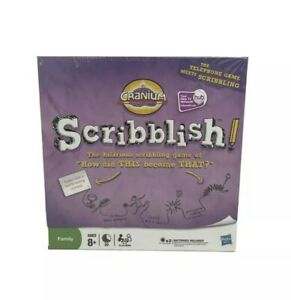New Sealed Cranium Scribblish Board Game Hasbro Ages 8 Years & Up 4-6 Players