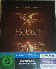 Der Hobbit - Spielfilm Trilogie, Blu Ray Steelbook + Bilbos Journal, NEU & OVP