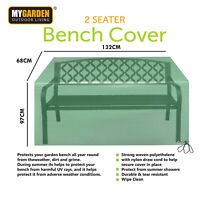 Heavy Duty 2 Seater Garden Bench Seat Cover Waterproof Weatherproof Outdoor Rain