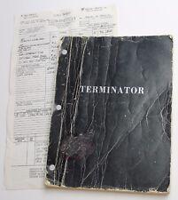 The Terminator * 1983 Movie Script Screenplay * Arnold Schwarzenegger, Sci Fi