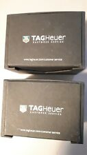 PAIR TAG HEUER TRAVEL CUSTOMER SERVICE CASE BOX W/ PILLOW, Excellent, Authentic