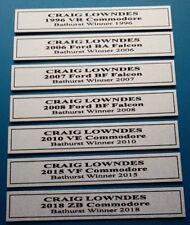 Craig Lowndes 7x Bathurst Biante Plaques Free Postage