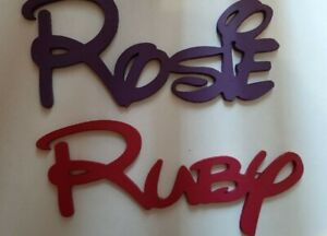 DISNEY style Personalised Wooden Name Plaques Words/Door signs painted