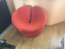 Modern Large Red Fabric Armchair / Tub Chair