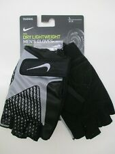 Nike men's lightweight training weight lifting gloves black/gray Large